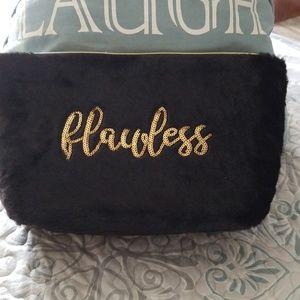 Plush makeup bag